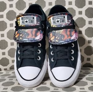 Converse Double Tongue OX Black/White/Multi